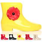 WOMENS ANKLE GARDEN JELLY WELLIE WELLINGTON RAIN LADIES WALKING LADIES BOOT SIZE