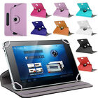 "TABLET 7"" 7 FLIP FLAP COVER CARRY CASE POUCH WITH STAND 360 DEGREE ROTATE"