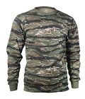 Tiger Stripe Camo Long Sleeve Tactical Military T-Shirt 66787 Rothco