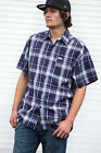 Caltop Brand Short Sleeve Plaid Shirts