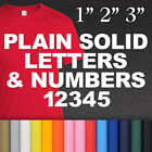 Plain Solid Letters & Numbers Iron-on White Tshirt Transfer Custom Sticker Craft