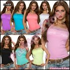 Sexy Ladies Summer Tank Top Women's Casual Party Lace Top Size 8/10,12/14 UK