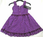 Brand New Girls cotton polka dots/lace casual summer party dress outfit,4-10 yrs