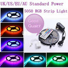 5/10M 5050 SMD RGB150/300 Waterproof LED Strip Lights+44 key +AU/US/EU/UK Power