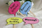 12 Personalised Birthday Party Speech Bubble Photo Booth Props 18th 21st 30th