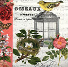 Handmade picture plaques with decoupage technology. Vintage  Cage and Bird