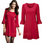 LADIES DRESS SIZES 10 - 20 RED SHORT COCKTAIL Plus Sizes Womens