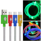 1M 3FT Durable LED Micro USB 2.0 Sync Data Charge Cable Cord For Nokia Galaxy 3