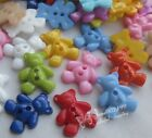 100/300x Cute Bear Plastic Buttons For Kid's Sewing Notions Crafts Lots NK056