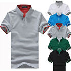 Muscle Mens Stylish Casual Slim Fit Short Sleeve New T-shirts Top Tee Polo Shirt