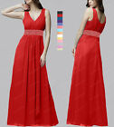 New Elegant Beaded Bridesmaid Wedding Formal Gown Prom Evening Dress SP254 L