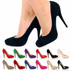 WORK OFFICE CASUAL SMART HIGH HEEL FASHION PUMPS ALL SIZES & COLORS PLATFORMS !!