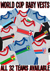 Baby Grow Football World Cup 2014 Brazil Retro Strip Vest Choose Your Team