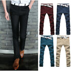 SP9833 New Mens Slim Fit Skinny Stretch Pencil Trousers Long Casual Pants Jeans