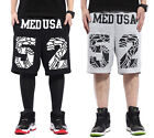 #185 Man Hip Hop Sports Dancing Crack Spoof Letter Printing Casual Shorts Pants
