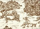 French Country Toile Suede Brown King Duvet Cover Reversi...