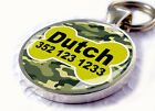 Camouflage Custom ID Pet Tags Personalized for Dogs & Cats Jungle Green Bone