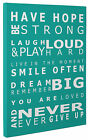 Have Hope Aqua Typography Canvas Print Wall Art Quote Picture Large or Small