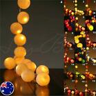 20 PRE-ASSEMBLED BATTERY POWERED Cotton Ball LED String Fairy Lights White Blue