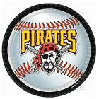 """Pittsburgh Pirates 9"""" Party Dinner Plates - Disposable Paper - 18/pkg - Licensed"""