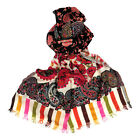 Indian Gypsies 100% Pure Merino Wool Colour Burst Stole for  Women