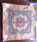 Turkish Ottoman Silk Ceramic Tapestry Pillow Cushion Hand Made Zippered Velvet-7