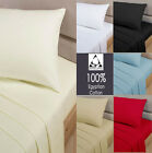Luxury 100% Egyptian Cotton Flat Sheets 200 Thread Count Single Double King SK