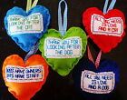 NEW HANDMADE PADDED HANGING HEART THANK YOU DOG CAT LOVE FUNY SIGN PRESENT GIFT
