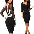 SUMMER PARTY DRESS WOMENS SEXY BLACK BODYCON PENCIL GOING OUT CLUB DRESSES