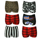 New Womens Girls Shorts Stretchy Hot Pants Party Dance Casual Sexy Look Size UK
