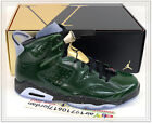 Nike Air Jordan 6 VI Celebration Champagne Green Metallic Gold 384664-350 US 9.5