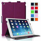 Folio Hardback Case HandStrap Cover for 2013 Apple iPad Air 5 5th Gen Sleep/Wake