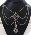 Gothic VICTORIAN Filigree RENAISSANCE Medieval EDWARDIAN Necklace/Choker Silver