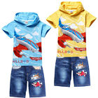 Planes Dusty Skipper Dottie Kids Boys Girls Hoodie T-Shirt+Jeans Shorts Sets