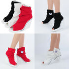 Wedges Trainers Heels Sneakers High Top Toe Open 777 Wrinkle Boots Shoes RubyRub