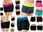 NEW Dance Gymnastics Cheer Booty Mini Bar Low & High Waisted Waist 2 Tone Shorts