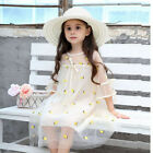 Kid Dressy Floral Princess Short Sleeve Dressing Costume Dress For 3-9T Girls
