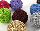 Rattan Wicker Cane 6cm Balls for table & florist decoration designs BUY QTY RQD