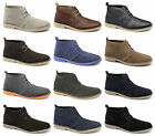 Jack Jones GOBI Mens Soft Leather Suede Lace-Up Casual Comfy Ankle Desert Boots
