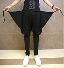Men's New Stylish Black Baggy Casual Cool Harem Pants Loose Stage Pub Trousers