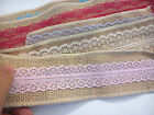 Natural Jute Burlap Hessian Ribbon Lace Trim Tape Rustic Wedding craft 60MM WIDE