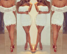 Sexy Womens Lace Hollow Clubwear Outfit Evening Cocktail Party Mini Dress S942RO