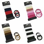 12 PIECE SNAG FREE ENDLESS PONY TAIL ELASTIC BOBBLES PONIO HAIR BANDS SET