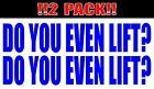 2 DECAL PACK DO YOU EVEN LIFT STICKER WORKOUT GYM MOTIVATION FITNESS WEIGHTS DTP