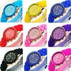 2014 Geneva Unisex Silicone Rubber Sports Women Wrist Watch Jelly Gel Quartz