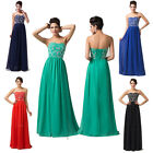 NEWEST Long Wedding Party Dress Bridesmaid Gown Evening Prom Formal 6-20 Size UK