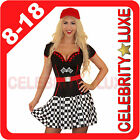 F1 Formula Racer Grand Prix Grid Girl with LED Lights Ladies Fancy Dress Costume