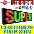 "LED Sign 19"" Tall P26mm Programmable Scrolling Outdoor Message Display Open"