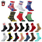 Unisex Novelty Bullet NYC UK Flag Superhero Lightning Fashion Crew Dress Socks