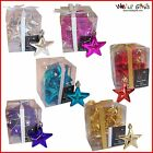 Christmas Tree Decoration - 10 Pack 60mm Star Baubles - 5 Colours
